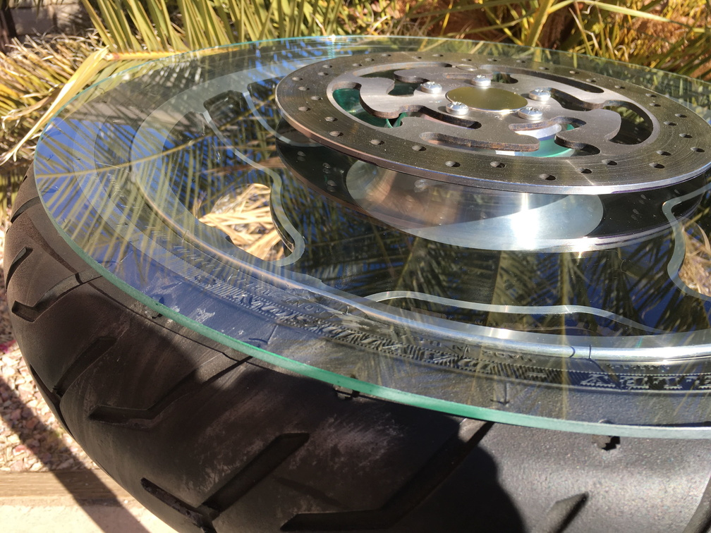 My motorcycle wheel table harley davidson forums for Bicycle wheel table